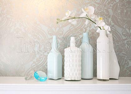 آموزش ساخت گلدان رنگی تزیینی  تصاویر