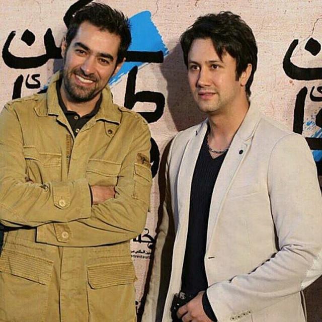 شاهرخ استخری در کنار شهاب حسینی