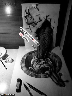 نقاشی های عجیب و ترسناک یک پسر 17 ساله!!( عکس)