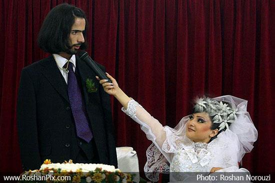 عکس های دیدنی از ( عــــــروسی ) یک زن و شوهر عجیب