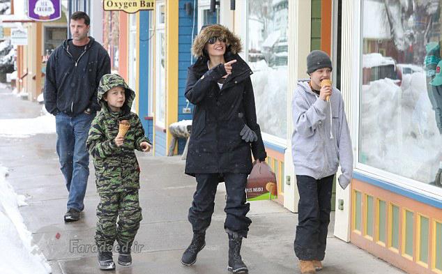 آنجلینا جولی و فرزندانش در تعطیلات دلچسب سال نو