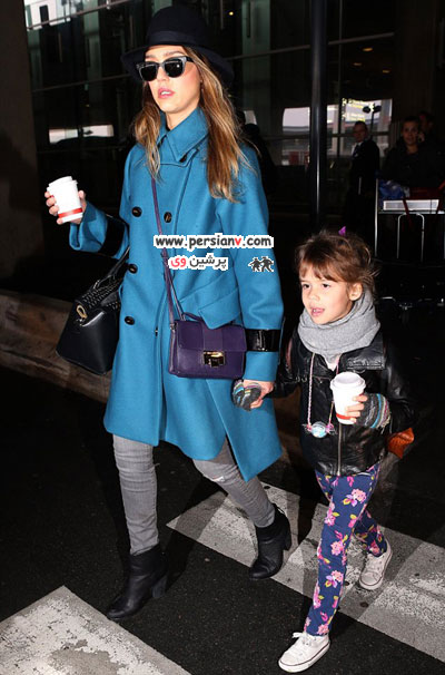 تصاویر جالبی از جسیکا آلبا و دخترش در پاریس