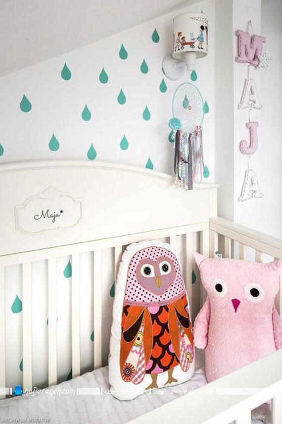 ایده هایی ناب برای تزئین اتاق نوزاد دختر با تم زیبای رنگ سفید