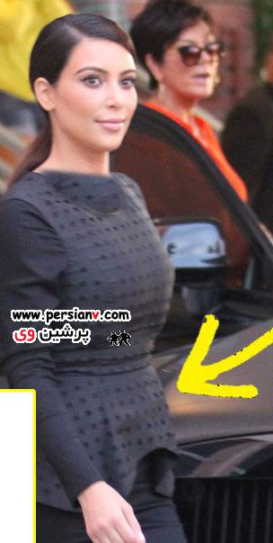 وحشت و نگرانی کیم کارداشیان از افزایش وزن بارداری اش !/عکس