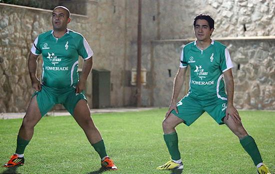 7 عکس جالب از فوتبال بازی کردن احسان علیخانی و همایون شجریان و دیگر سرشناسان