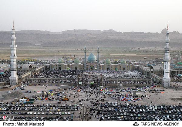 عکسهای دیدنی مسجد جمکران در روز نیمه شعبان