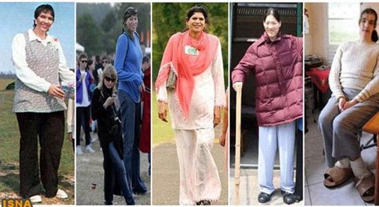 10 زن قد بلند تاریخ جهان!  عکس