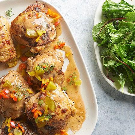 مرغ با سس خیارشور ، برای کسانی که عاشق غذاهای شور و ترش هستند