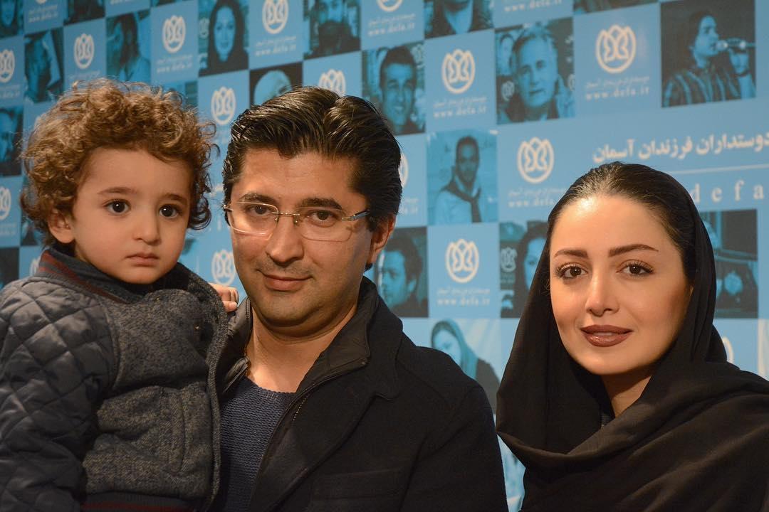 شیلا خداداد در کنار همسر و پسرش