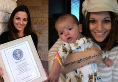 زنی که با تولد فرزندش رکورد اهدای شیر خودش به دیگران را شکست!!