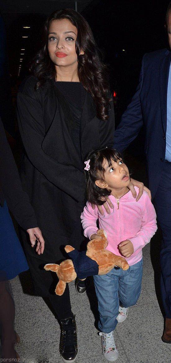 آیشواریا رای و دخترش در شهر سیدنی استرالیا
