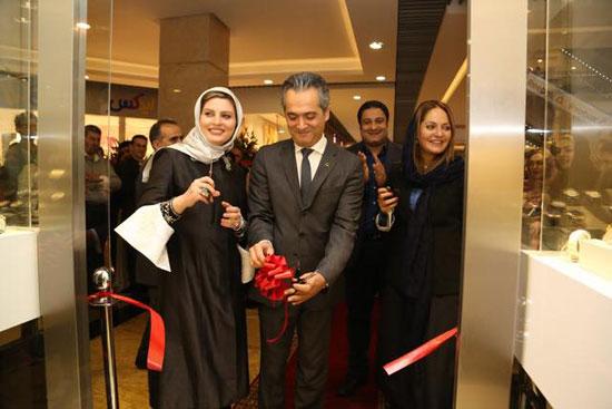 تصاویری از کار تبلیغاتی جدید مهناز افشار در افتتاحیه ساعت شانزلیزه
