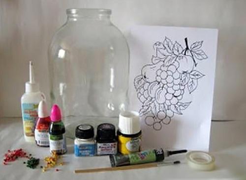 نقاشی بطری