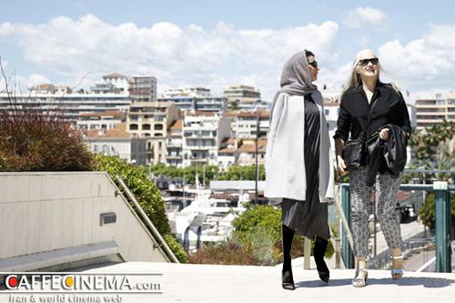 تصاویری تازه از لباس طلایی لیلا حاتمی در کن ۲۰۱۴