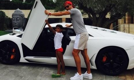 کریس رونالدو و پسرش
