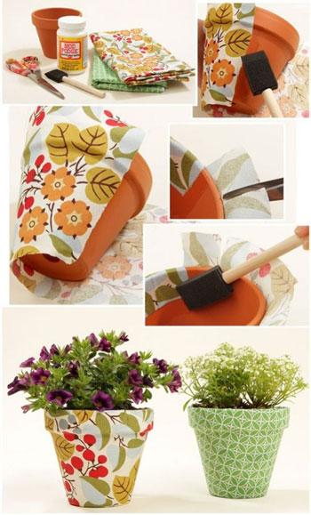 ساخت گلدان رنگی