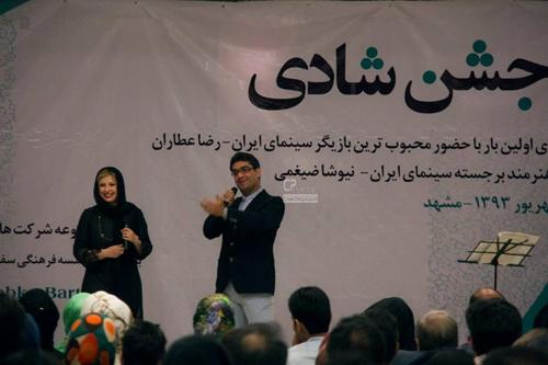 جدید ترین عکس های نیوشا ضیغمی و همسرش