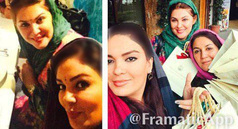 خال هندی بازیگران زن ایرانی با رفتن به رستوران هندی !