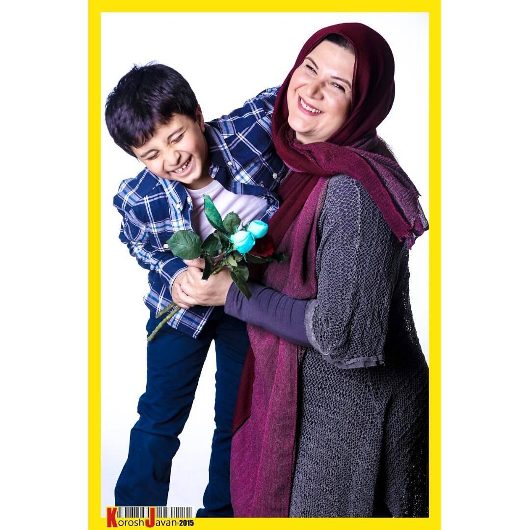 ریما رامین فر و پسرش