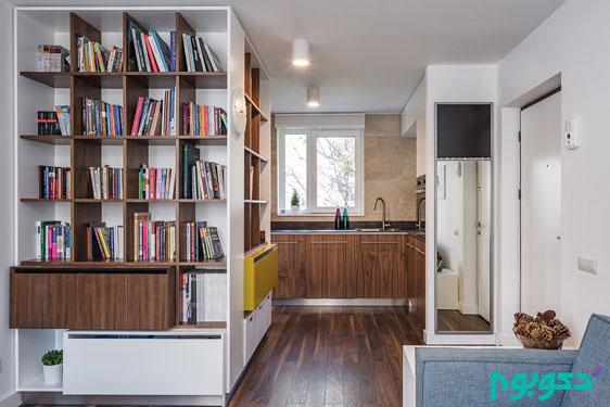 چیدمان داخلی جالب یک خانه کوچک 55 متری