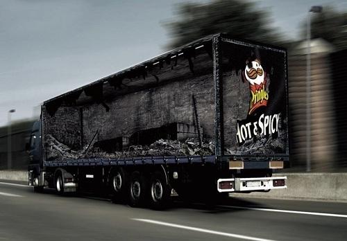 تبلیغاتی که به کامیون ها احساس می بخشد تصاویر