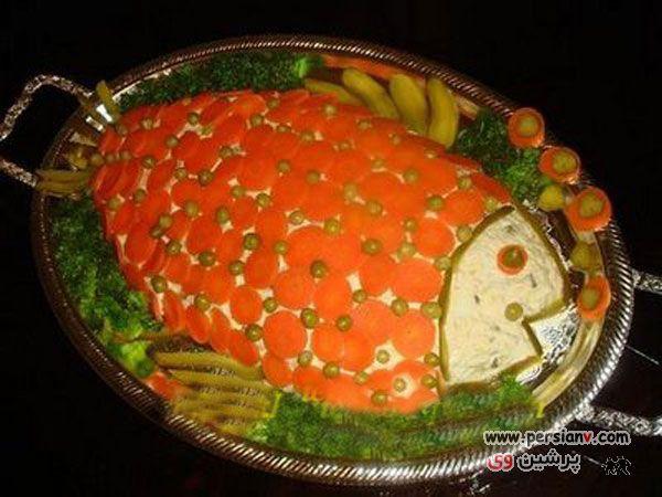 عکسهای فوق العاده جذاب از تزیین سالاد الویه برای جشن تولد