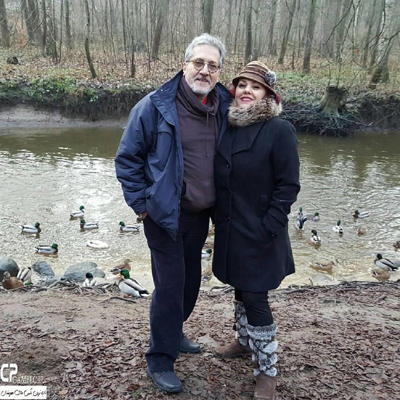افسانه چهره آزاد و همسرش در خارج از کشور