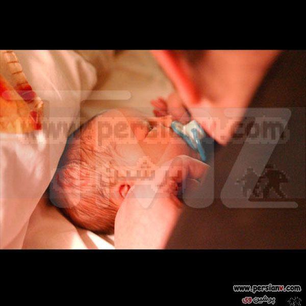 تصاویری از دومین مرد باردار عکس همسر و فرزندش