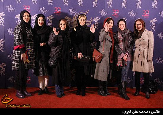 عکس یادگاری و دستهجمعی بازیگران زن مشهور در کاخ جشنواره