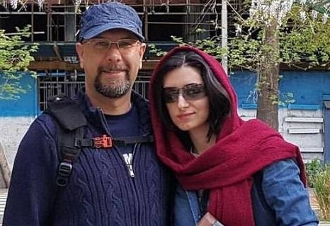 محمد بحرانی در کنار همسرش