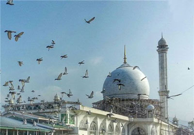 زیارتگاه «حضرت بال» در کشمیر ( تصاویر)