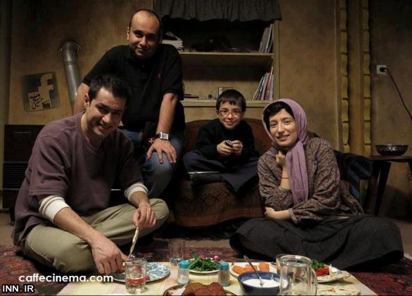 شهاب حسینی و نگار جواهریان سر سفره شام عکس