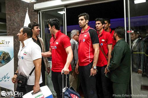 تصاویری از بازگشت تیم ملی والیبال ایران از مسابقات لیگ جهانی 2014