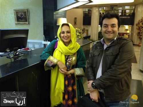 عکسهای جدید بهنوش بختیاری و هومن برق نورد در برنامه صبح خلیج فارس