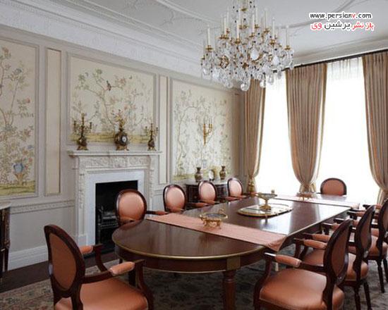 اتاق غذاخوری های شیک و کلاسیک به سبک عصر ویکتوریا