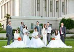 ازدواج 5 برادر و خواهر در یک روز !  عکس