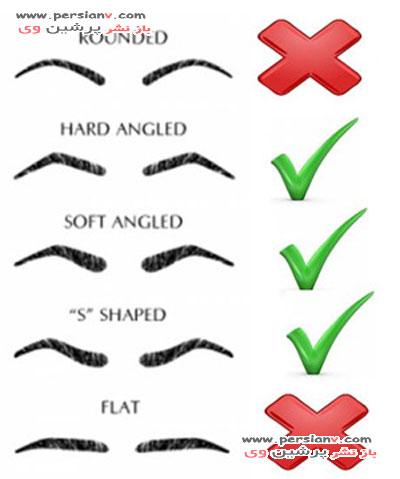 سه مدل مناسب ابرو برای صورت های گرد