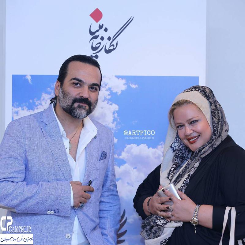 حضور هنرمندان مشهور در مراسم افتتاحیه یک نمایشگاه