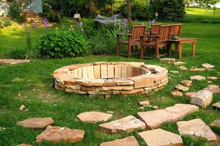 نحوه ساخت آتش دان در حیاط