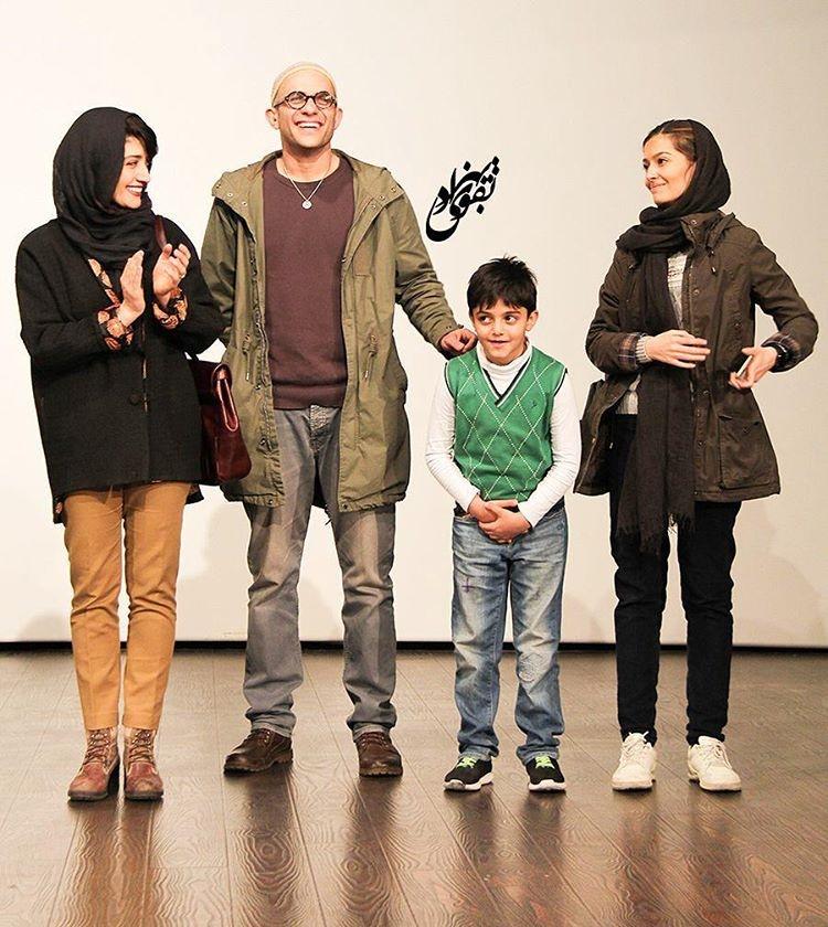 مینا ساداتی و همسرش بابک حمیدیان در اکران فیلم لاک قرمز