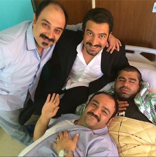 عکسی جالب از آروین و حنا دوقلوهای تازه به دنیا آمده مجید صالحی