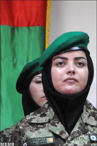 عکس : ادای سوگند افسران نظامی زن