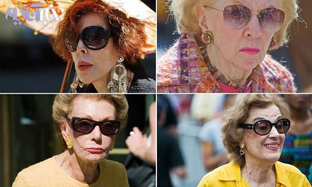 زنان واقعی و مسن ، بسیار پولدار و زیبای خیابان پنجم نیویورک