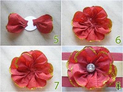 ساخت گل با کاغذ کشی
