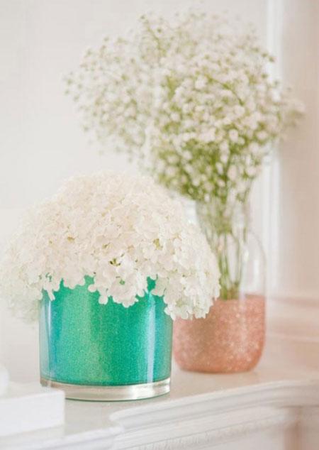 آموزش تبدیل شیشه ساده به گلدان زیبا