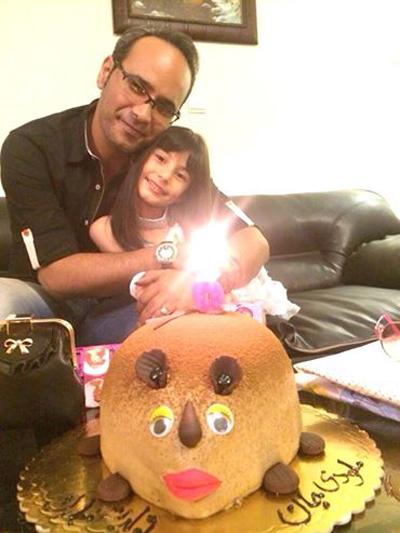 شهرام شکوهی و تبریک تولد دخترش ملودی