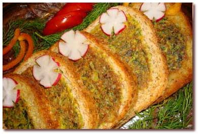 کوکو سبزی در نان تست
