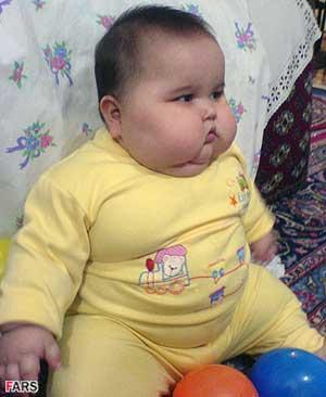 عکس : نوزاد 20 کیلویی در تهران
