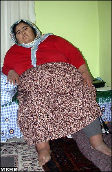 عکس : دختر مسلمان 230 کیلویی !