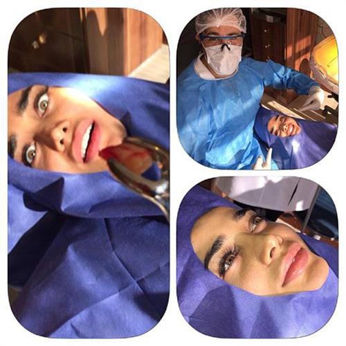 عکس تینا آخوندتبار در دندان پزشکی